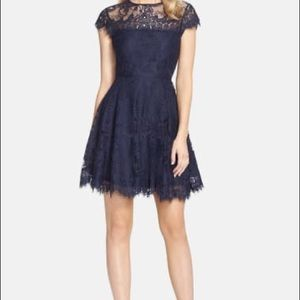 NEW BB Dakota Open Back Lace Fit & Flare Dress